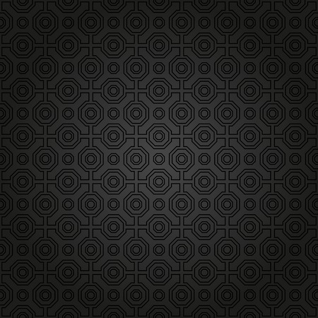 Foto de Geometric fine abstract  pattern. Seamless dark modern texture for wallpapers and background - Imagen libre de derechos
