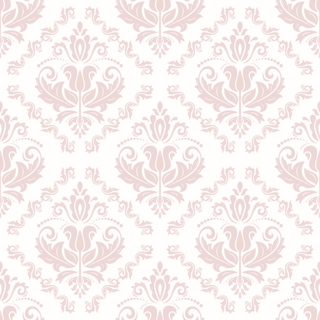 Illustration pour Oriental vector classic pink pattern. Seamless abstract background - image libre de droit