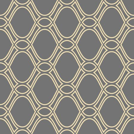 Illustration pour Seamless vector ornament. Modern geometric pattern with repeating golden wavy lines - image libre de droit