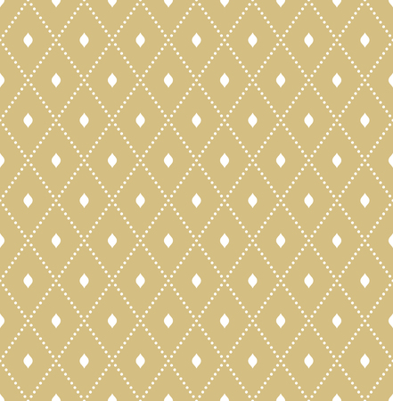 Illustration pour Geometric dotted vector golden pattern. Seamless abstract modern texture for wallpapers and backgrounds - image libre de droit