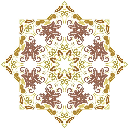 Photo for Elegant ornament in classic style. Abstract traditional pattern with oriental elements. Classic colored round vintage pattern - Royalty Free Image