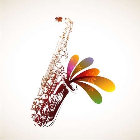 Illustration for Colorful Sax - Royalty Free Image