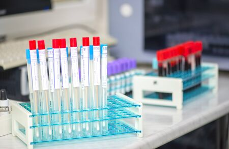 Photo for Sterile test swap tubes for taking sample of throat diseases - Royalty Free Image