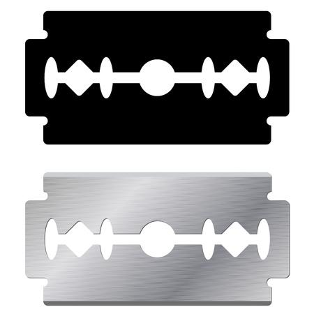 Ilustración de Standard razor blade shape and realistic illustration isolated on white background  - Imagen libre de derechos
