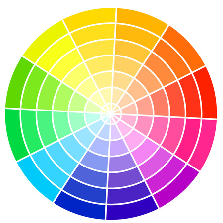 Ilustración de Standard color wheel isolated on white background vector illustration  - Imagen libre de derechos