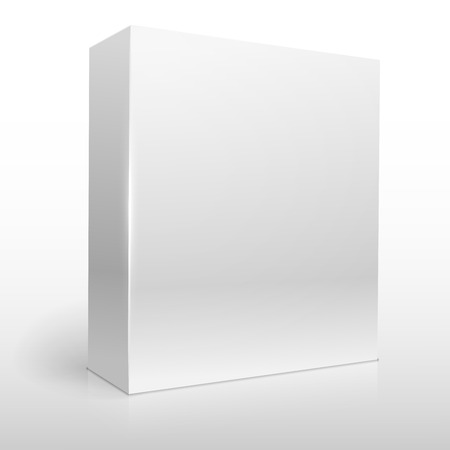 Illustration pour Blank white software box vector template. - image libre de droit