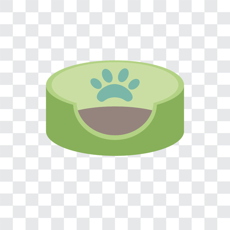 Illustrazione per Pet bed vector icon isolated on transparent background - Immagini Royalty Free