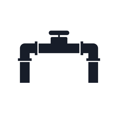 Illustration pour Pipe icon vector isolated on white background for your web and mobile app design - image libre de droit