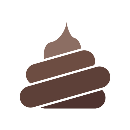 Ilustración de Poop icon vector isolated on white background for your web and mobile app design - Imagen libre de derechos
