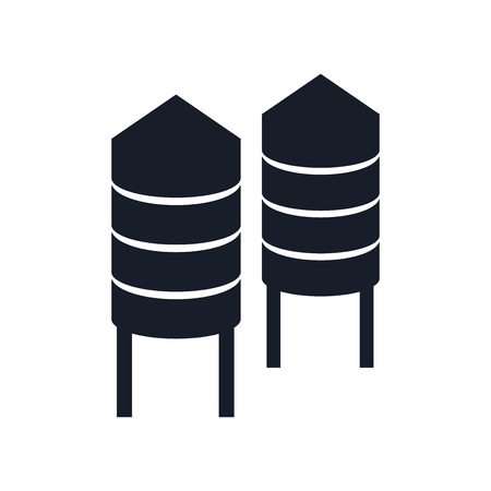 Illustration pour Silo icon vector isolated on white background for your web and mobile app design - image libre de droit