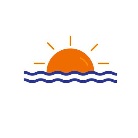 Ilustración de Sunset icon vector isolated on white background for your web and mobile app design, Sunset icon concept - Imagen libre de derechos