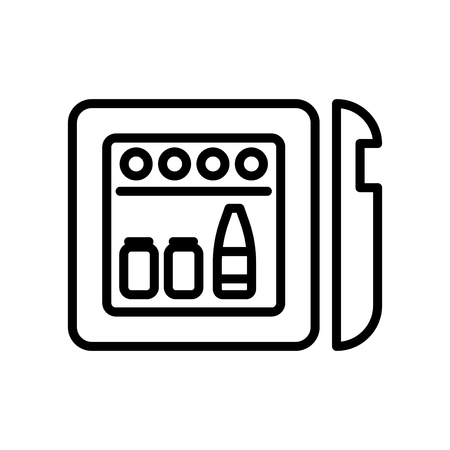 Illustration pour Minibar icon vector isolated on white background, Minibar transparent sign , line and outline elements in linear style - image libre de droit