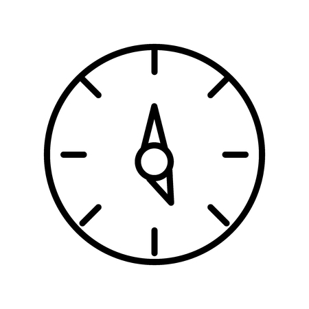 Ilustración de Time left icon vector isolated on white background, Time left transparent sign , line and outline elements in linear style - Imagen libre de derechos