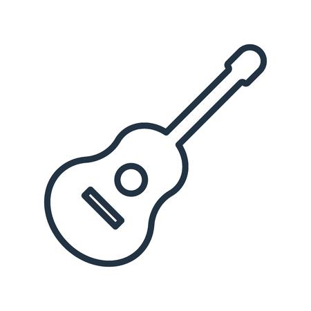 Illustration pour Ukelele icon vector isolated on white background, Ukelele transparent sign - image libre de droit