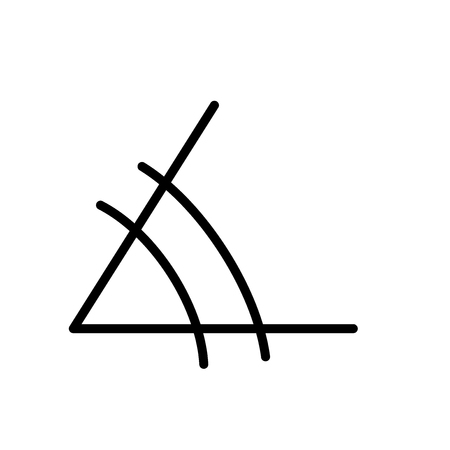 Illustration for Angle icon vector isolated on white background, Angle transparent sign , line and outline elements in linear style - Royalty Free Image