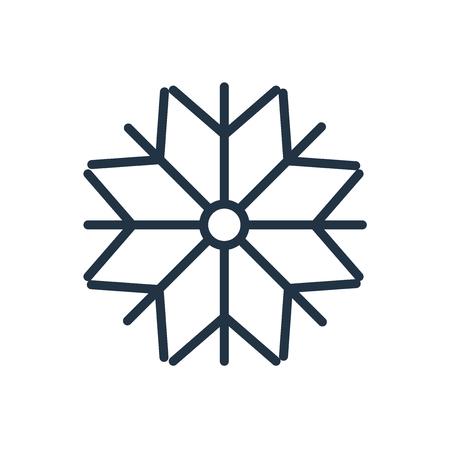 Ilustración de Snow icon vector isolated on white background, Snow transparent sign - Imagen libre de derechos