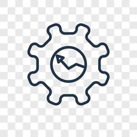 Illustration pour Gear vector icon isolated on transparent background, Gear logo concept - image libre de droit