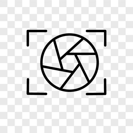 Ilustración de Shutter vector icon isolated on transparent background, Shutter logo concept - Imagen libre de derechos