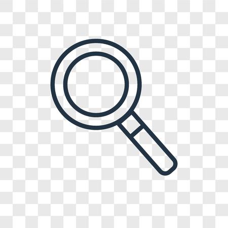 Ilustración de Magnifying glass vector icon isolated on transparent background, Magnifying glass logo concept - Imagen libre de derechos