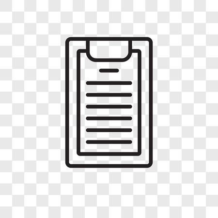 Ilustración de Notepad vector icon isolated on transparent background, Notepad logo concept - Imagen libre de derechos