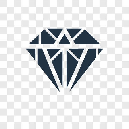 Ilustración de Diamond vector icon isolated on transparent background, Diamond logo concept - Imagen libre de derechos