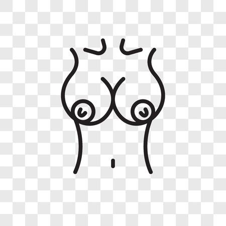 Ilustración de Breast vector icon isolated on transparent background, Breast logo concept - Imagen libre de derechos