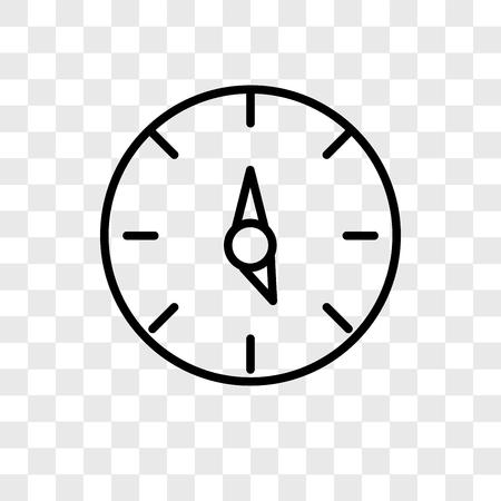 Ilustración de Time left vector icon isolated on transparent background, Time left logo concept - Imagen libre de derechos