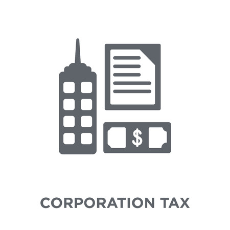 Illustration for Corporation tax icon. Corporation tax design concept from Corporation tax collection. Simple element vector illustration on white background. - Royalty Free Image