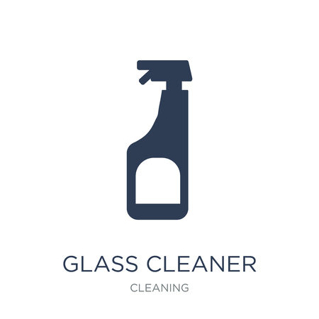Ilustración de Glass cleaner icon. Trendy flat vector Glass cleaner icon on white background from Cleaning collection, vector illustration can be use for web and mobile, eps10 - Imagen libre de derechos