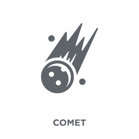 Ilustración de Comet icon. Comet design concept from Astronomy collection. Simple element vector illustration on white background. - Imagen libre de derechos