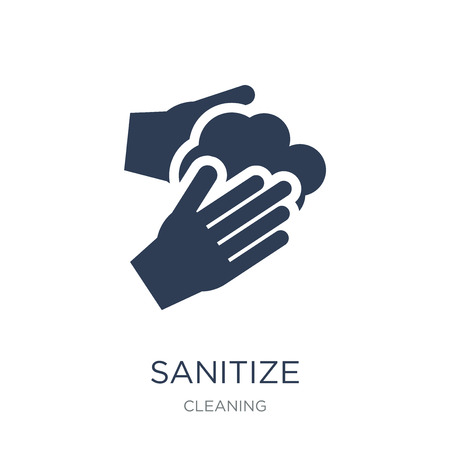 Illustration pour sanitize icon. Trendy flat vector sanitize icon on white background from Cleaning collection, vector illustration can be use for web and mobile, eps10 - image libre de droit