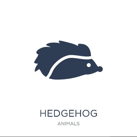 Ilustración de Hedgehog icon. Trendy flat vector Hedgehog icon on white background from animals collection, vector illustration can be use for web and mobile, eps10 - Imagen libre de derechos