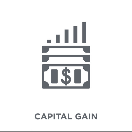 Ilustración de Capital gain icon. Capital gain design concept from Capital gain collection. Simple element vector illustration on white background. - Imagen libre de derechos