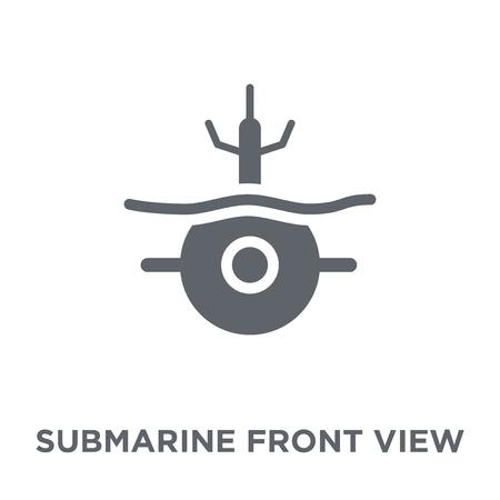 Illustration pour Submarine Front View icon. Submarine Front View design concept from Army collection. Simple element vector illustration on white background. - image libre de droit