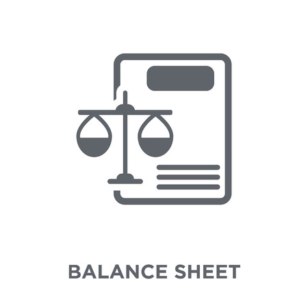 Ilustración de Balance sheet icon. Balance sheet design concept from Balance sheet collection. Simple element vector illustration on white background. - Imagen libre de derechos