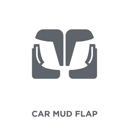 Ilustración de car mud flap icon. car mud flap design concept from Car parts collection. Simple element vector illustration on white background. - Imagen libre de derechos
