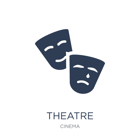 Illustration pour Theatre icon. Trendy flat vector Theatre icon on white background from Cinema collection, vector illustration can be use for web and mobile, eps10 - image libre de droit