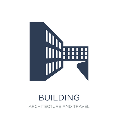 Ilustración de Building icon. Trendy flat vector Building icon on white background from Architecture and Travel collection, vector illustration can be use for web and mobile, eps10 - Imagen libre de derechos