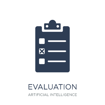 Illustration for Evaluation icon. Trendy flat vector Evaluation icon on white background from Artificial Intelligence, Future Technology collection, vector illustration can be use for web and mobile, eps10 - Royalty Free Image