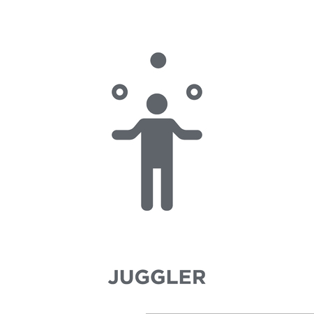 Illustration pour Juggler icon. Juggler design concept from Circus collection. Simple element vector illustration on white background. - image libre de droit