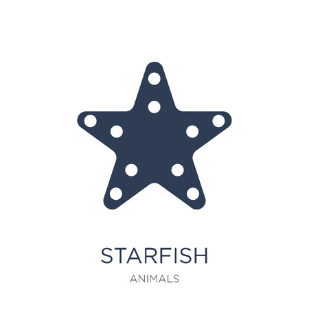 Ilustración de Starfish icon. Trendy flat vector Starfish icon on white background from animals collection, vector illustration can be use for web and mobile, eps10 - Imagen libre de derechos
