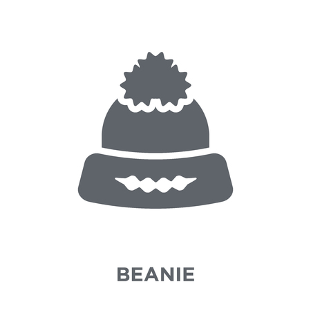 Ilustración de Beanie icon. Beanie design concept from  collection. Simple element vector illustration on white background. - Imagen libre de derechos