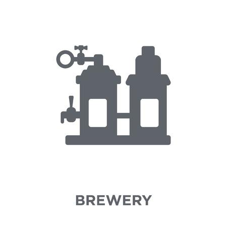 Ilustración de Brewery icon. Brewery design concept from Drinks collection. Simple element vector illustration on white background. - Imagen libre de derechos