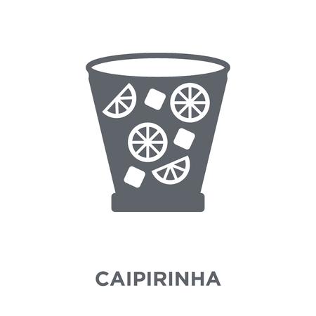 Ilustración de Caipirinha icon. Caipirinha design concept from Drinks collection. Simple element vector illustration on white background. - Imagen libre de derechos