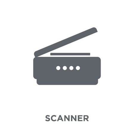 Illustration for Scanner icon. Scanner design concept from Electronic devices collection. Simple element vector illustration on white background. - Royalty Free Image