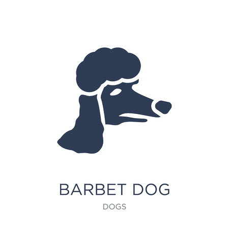 Ilustración de Barbet dog icon. Trendy flat vector Barbet dog icon on white background from dogs collection, vector illustration can be use for web and mobile, eps10 - Imagen libre de derechos