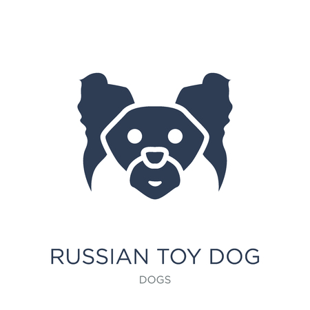 Illustrazione per Russian Toy dog icon. Trendy flat vector Russian Toy dog icon on white background from dogs collection, vector illustration can be use for web and mobile, eps10 - Immagini Royalty Free