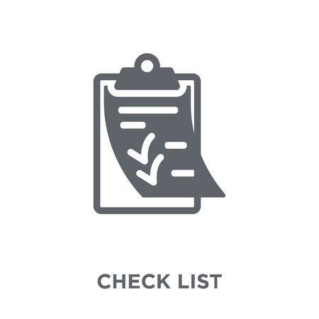 Illustration pour Check List icon. Check List design concept from Delivery and logistic collection. Simple element vector illustration on white background. - image libre de droit