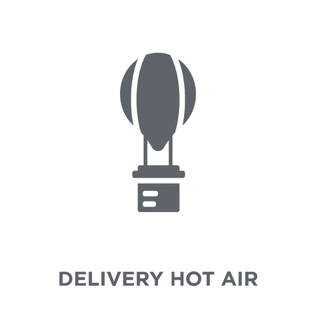 Illustration pour Delivery Hot air balloon icon. Delivery Hot air balloon design concept from Delivery and logistic collection. Simple element vector illustration on white background. - image libre de droit