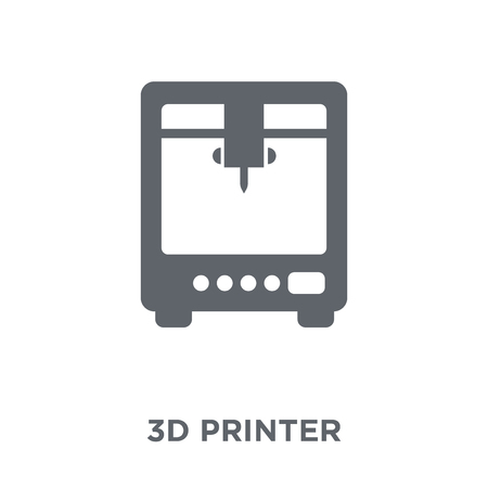 Illustrazione per 3d printer icon. 3d printer design concept from Electronic devices collection. Simple element vector illustration on white background. - Immagini Royalty Free